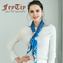 100% Réel Soie Écharpe Femmes Bleu Petit Homme Imprimé Foulard Foulard Carré  Grand Châle   11015a502dd