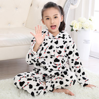 Children warm Loungewear infantil Coral Fleece pijama Kids Flannel Homewear for Girl Pyjamas 2017 Girls pajamas Minnie Sleepwear