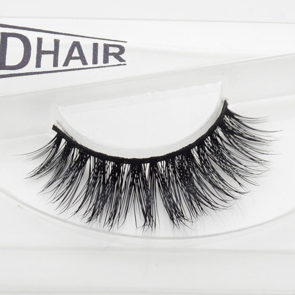 Visofree Mink Lashes 3D Lashes Long Lasting Lashes Natural & Lightweight Mink Eyelashes 1 Pair SS204