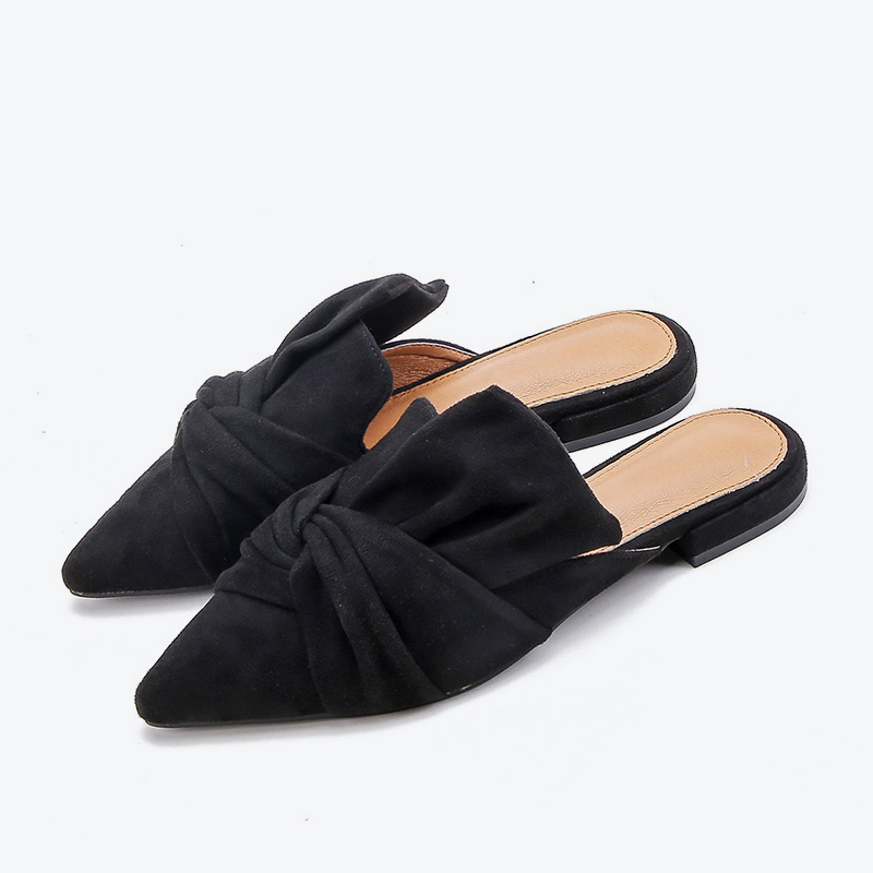 Low Heels Shoes Pointed Woman Slipper