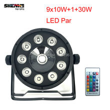 цена на 30pcs/lot Hot selling LED Flat Par 9X10W+1X30W Wireless Remote Control Wash 7 Dmx Par Light 120W American DJ Par RGB 3in1 Led P