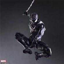 2017 Play Arts 28 cm Mal Edição Preto Spiderman Marvel Super Hero Spider Man Avengers Figura de Ação DO PVC Brinquedos do Regresso A Casa(China)