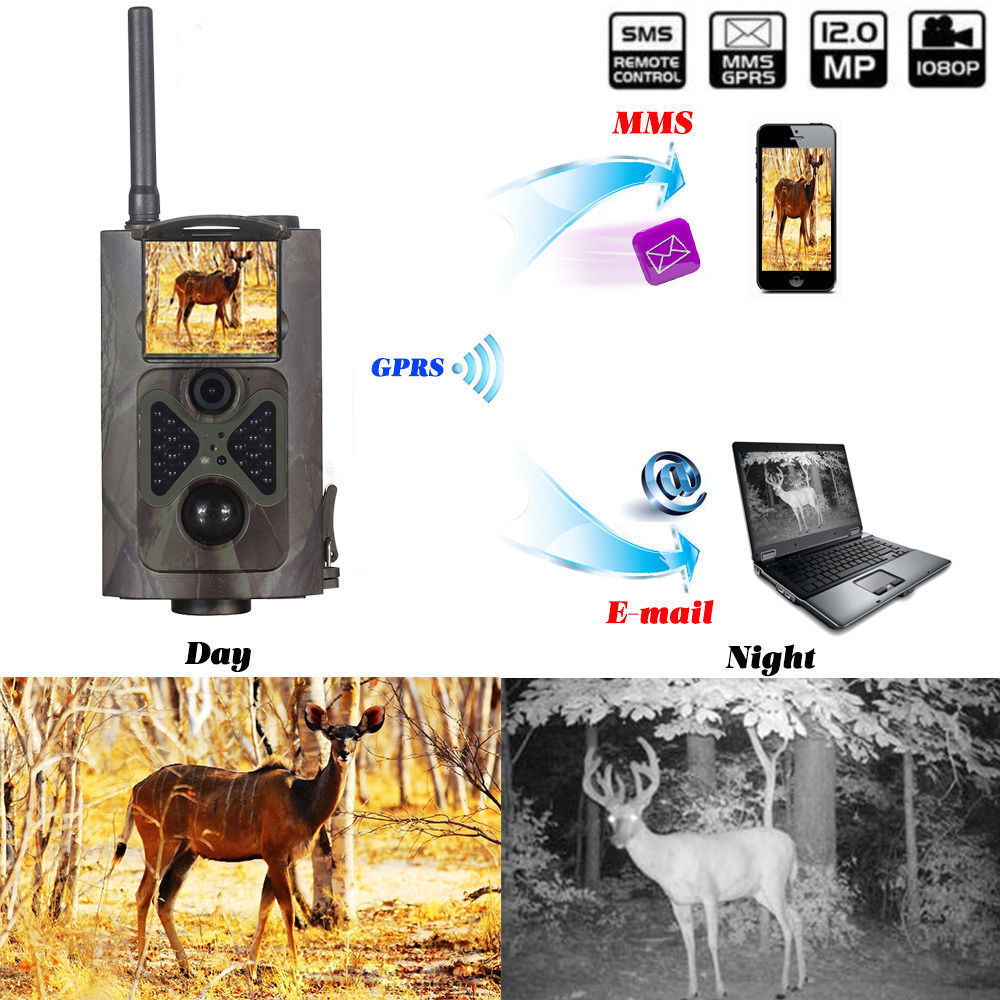 CE RoHs Hunting Game camera wireless GPRS HC-300M hunting trail camera with 940nm night vision photo trap wildlife trail camera