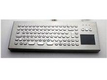Desk Metal Kiosk Keyboard with Touchpad 86Keys Industrial Desktop Keyboard Water-proof With Touchpad