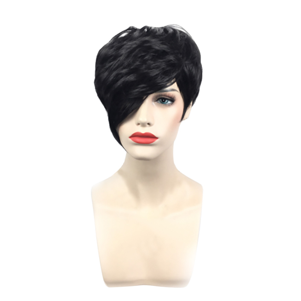 Wig Head Stands Fashion Modern Europe and the United States Wigs Female Black Fashion Short Hair African Drop shipping June12