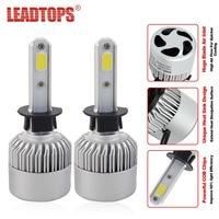 2Pcs H4 LED H7 H11 H1 H3 9005 9006 COB S2 Auto Car Headlight 72W 8000LM