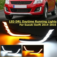 Car 12V Led Drl For Suzuki Swift 2014 2015 2016 Waterproof Turn Signal With Switch Harness Daytime Running Light Drl Blinker