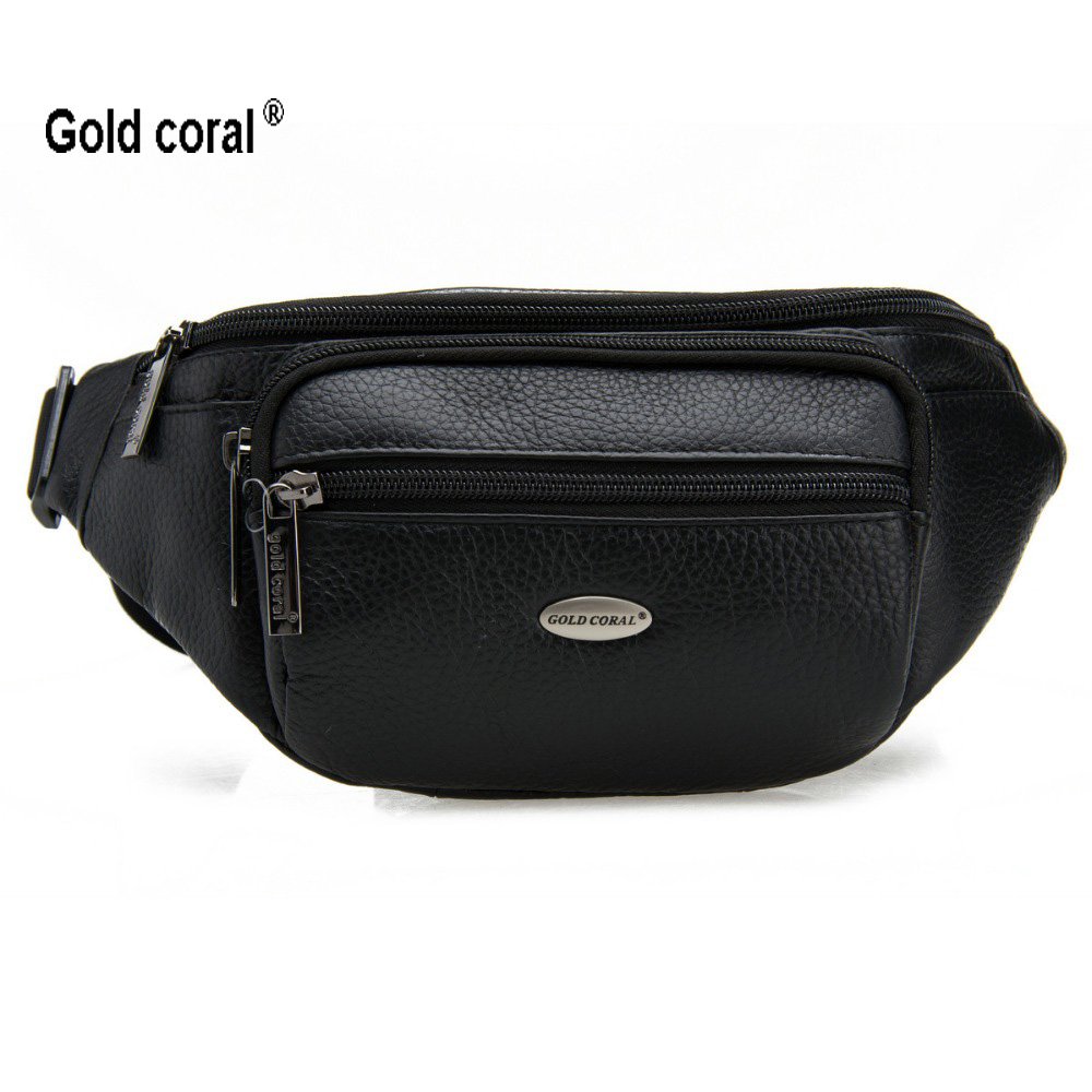 सोने का मूंगा असली लेदर कमर पैक पुरुष काउहाइड मैसेंजर बैग पुरुषों के लिए कमर बैग पार शरीर पर्स पुरुष कट्टर पैक