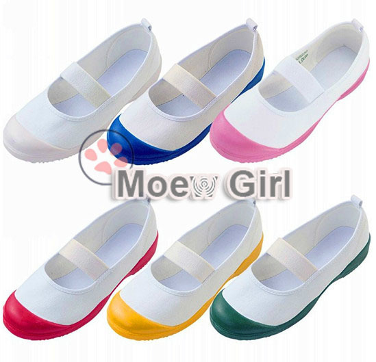 6dbc4684893 Japan Japanese School Uniform Uwabaki Shoes Sports Gym Indoor Shoes Cosplay  Flat Anti-sweat