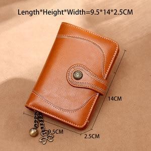 Image 3 - Zency 100% prawdziwej skóry prosty portfel dla kobiet kopertówka wysokiej jakości dużej pojemności portfel etui na karty brązowy