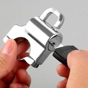 """Image 5 - 1Pc אופנוע Univesal קסדת מנעול אופני תליית וו מפתחות סט כרום 22mm 7/8 """"צינור כידון בר עם אבזרים"""