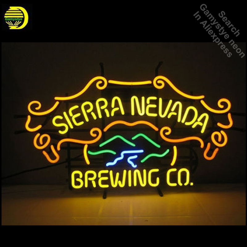Neon Signs for Sierra Nevada Handcrafted Neon Bulbs sign Glass Tube Decorate Garage Wall Wholesale Sign Advertise dropshipping
