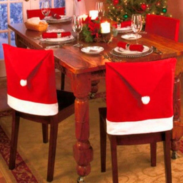 Świąteczne pokrowce na krzesła - aliexpress