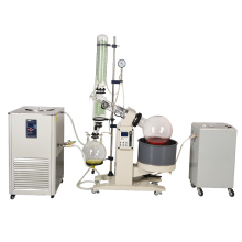 ZOIBKD 20L Lab Rotary Evaporator Customize Evaporator Evaporation Motor Lifting Turnkey Package w/Water Vacuum Pump &Chiller china rotary evaporator rotavap manufacturer sell 1l rotary vacuum evaporator ptfe seal for distillation heating equipment