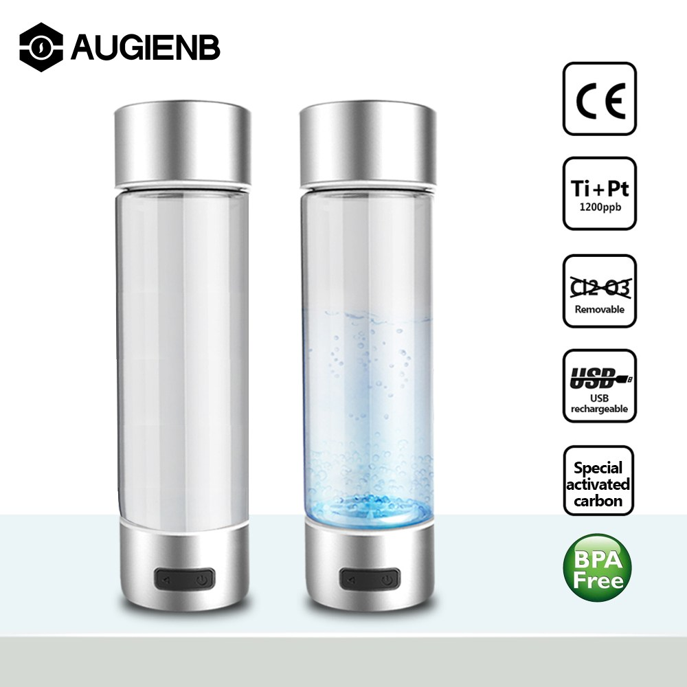 USB Charging Portable Hydrogen Generator Ionizer H3 Rich Hydrogen Water Bottle 450ml Electrolysis Hydrogen 4/10mins Drinking active hydrogen water generator new style direct drinking water stick