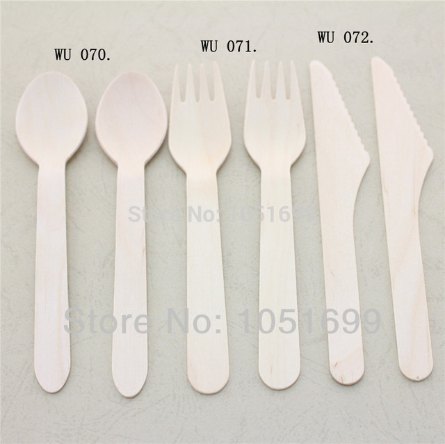 2700pcs Disposable Natural Birch Mini Wooden Spoons Forks And Knives Wholesale For Cake Of 1st Birthday Party Wedding Decoration