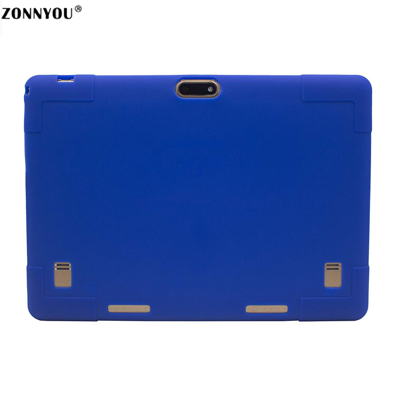10.1 inch Android 7.0 Tablet PC 3G Phone Call 4GB+32GB Octa Core 1.5GHz Dual SIM GPS OTG With Leather Rubber Case Blue PC