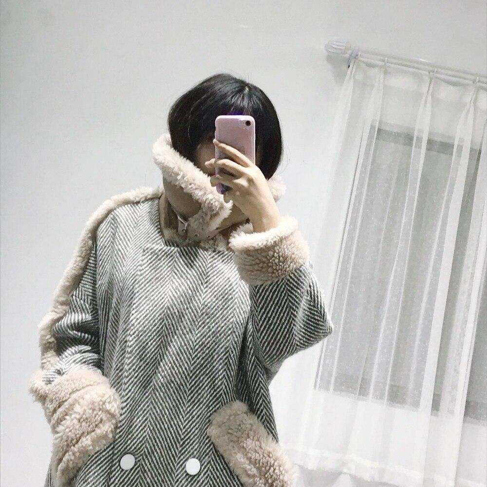 Nouvelle Femmes down Et Surcoat Photo 2018 De Des Pleine D'hiver Color Automne Manteau Laine Longue Casual Col Mode Turn Moyen w8qypRS