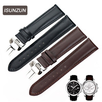 ISUNZUN Watch Band For Tissot T014.427 PRC200 Series Watch Strap 20MM Genuine Leather Nato Strap Brand Watchbands Leather Strap