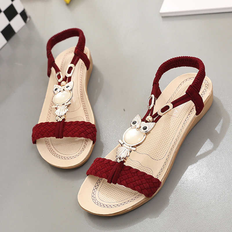 a65e9f6c8537fc ... New Women Sandals Summer Fashion Flip Flops Female Sandals Flat Shoes  Bohemia Casual Ladies Beach SandalsWomen ...