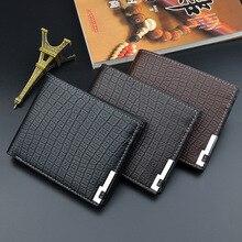 Men Wallets Fashion Mens Wallet with Coin Bag Zipper Small Money Purses Dollar Slim Purse Money Clip Wallet Buckle wholesale 397