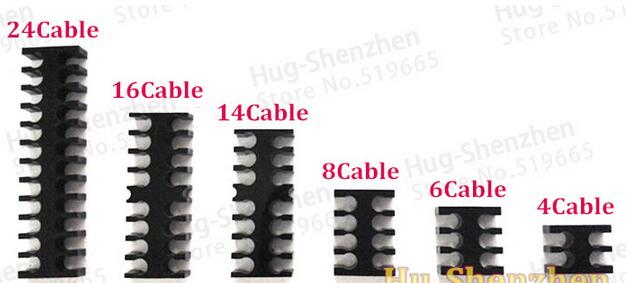 6PCS/PACK Black Acrylic Cable Combs for 3mm Cable Comb Free shipping цена и фото