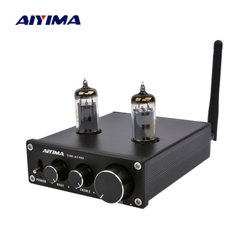 AIYIMA 6K4 Vacuum Tube Amplifier Preamplifier Bluetooth 5.0 Bile Pre AMP Vacuum Tube Preamp With Treble Bass Tone Adjustment aiyima tube amplifier preamp hifi 6j1 tube preamplifier board with ne5532 tone 12v power supply