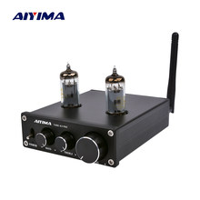 AIYIMA 6K4 Vacuum Tube Amplifier Preamplifier Bluetooth 5.0 Bile Pre AMP Vacuum Tube Preamp With Treble Bass Tone Adjustment(China)