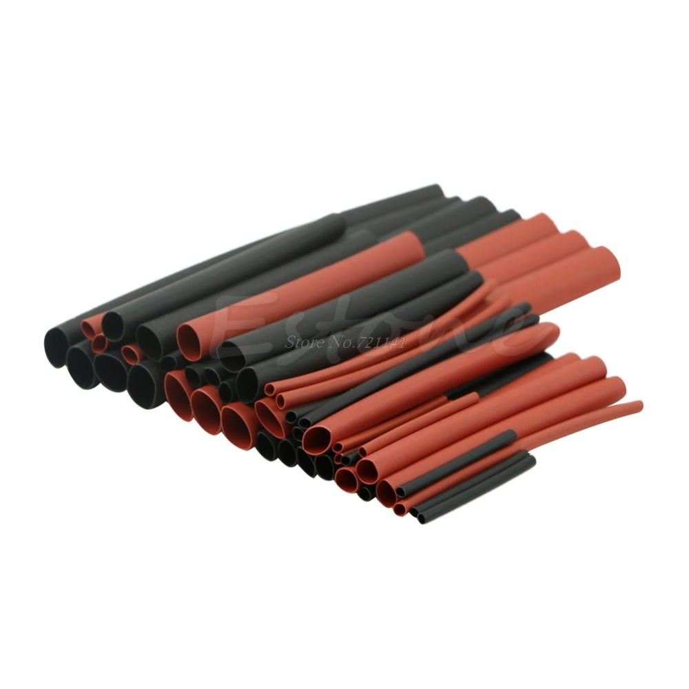 42pcs Polyolefin 2:1 H-type Heat Shrink Tubing Tube Sleeving Assorted Wrap Wire Dropship