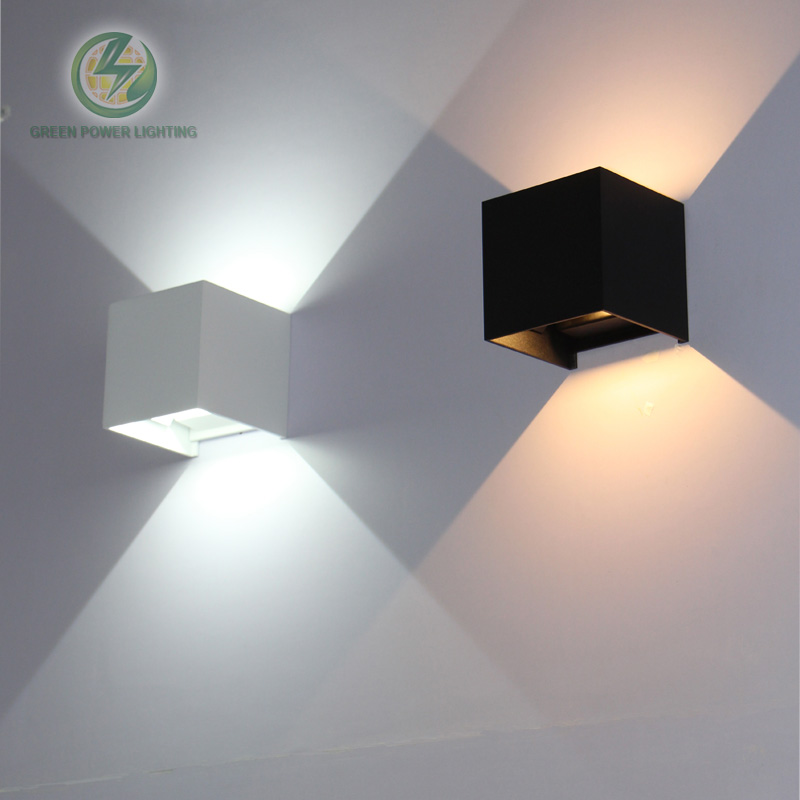 Ip65 cube adjustable surface mounted outdoor led lightig for Exterior up down wall light