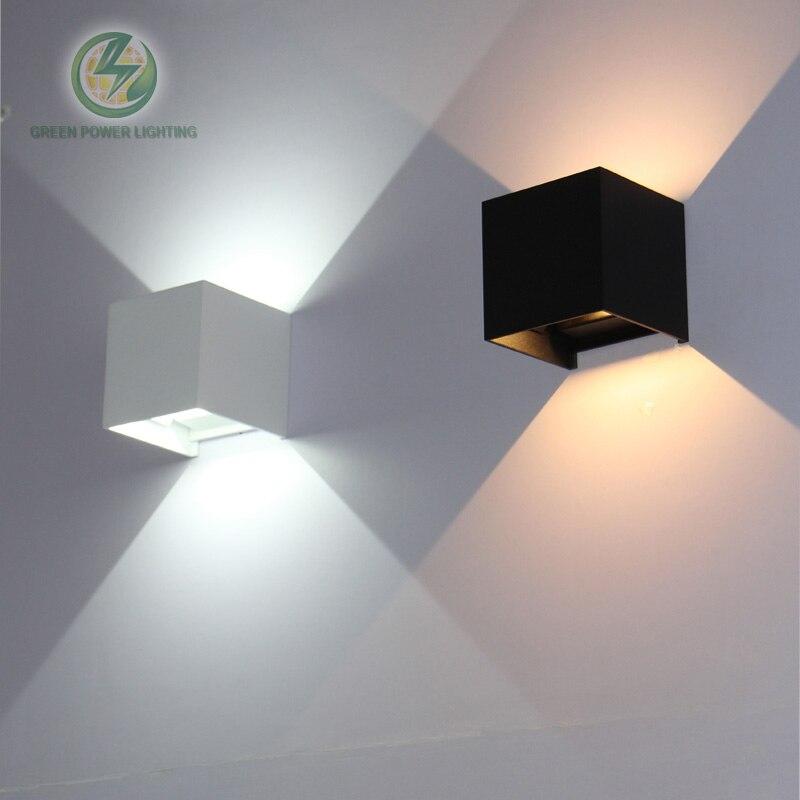 IP65 cube réglable surface monté en plein air a mené l'éclairage, led outdoor wall light, up down led mur lampe