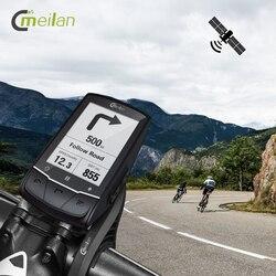 Meilan M1 GPS rowerowy komputer rowerowy nawigacja GPS BLE4.0 prędkościomierz połącz z monitorem kadencji/HR/miernikiem mocy (brak w zestawie) w Komputery rowerowe od Sport i rozrywka na
