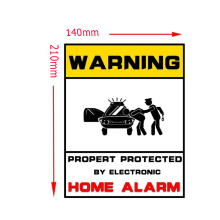 WARNING STICKER Security Signs-Window Stickers Home Security Surveillance System CCTV Alert Sticker For IP Camera Alarm System