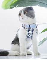 Милый Кот шлейка и поводок набор нейлоновая сетка ПЭТ ремни для щенка свинец кошка воротник одежда жилет для маленьких кошек собаки котята ...