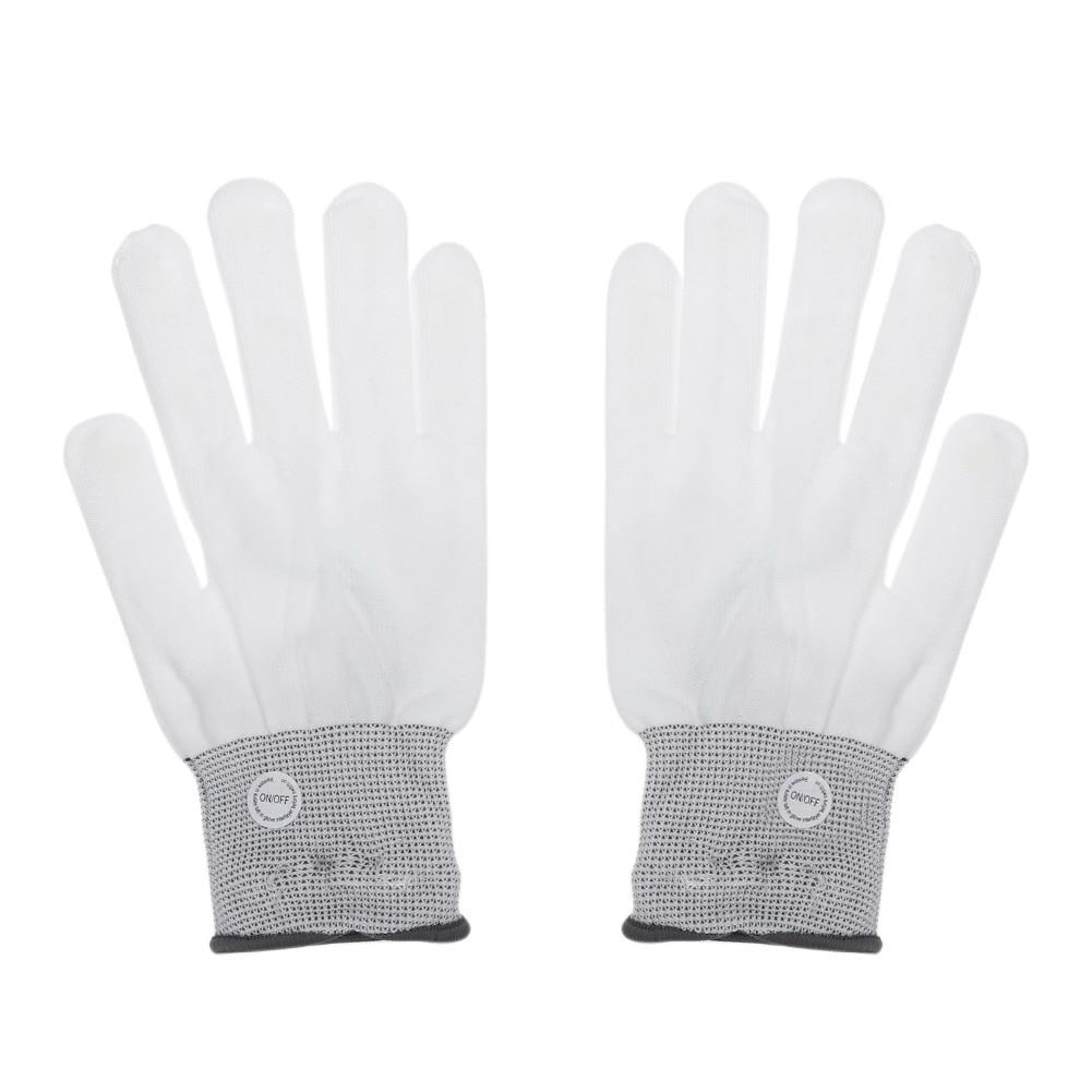 Black gloves white magic - 2017 1pair 7modes Magic White Glove Rainbow Flash Led Glow Stick Gloves Party Decoration Accessory