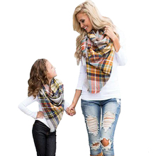 Winter Scarf Tartan Plaid scarf Cashmere Pashmina  Designer Blanket Scarf Hickness Hot Handkerchief Soft Luxury Brand Scarves