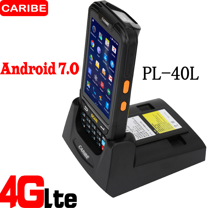 CARIBE Android Barcode Scanner PDA Terminal Portátil Mais Recente Projeto com 4000mA capacidade da bateria