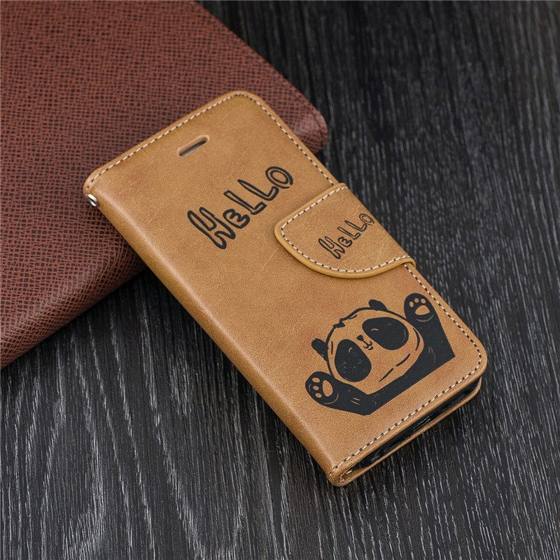 Luxury Leather Flip Wallet Case For Huawei P20 P10 Mate 10 Lite Pro P Smart <font><b>Honor</b></font> 7A 7C <font><b>7X</b></font> Y9 Y5 2018 Magnetic Stand Phone Cases image