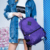 Fullstarplus Mulheres Mochila para Adolescentes Meninas mochilas mochila saco de escola saco mochila Mochila Sólida roxo À Moda Do Vintage