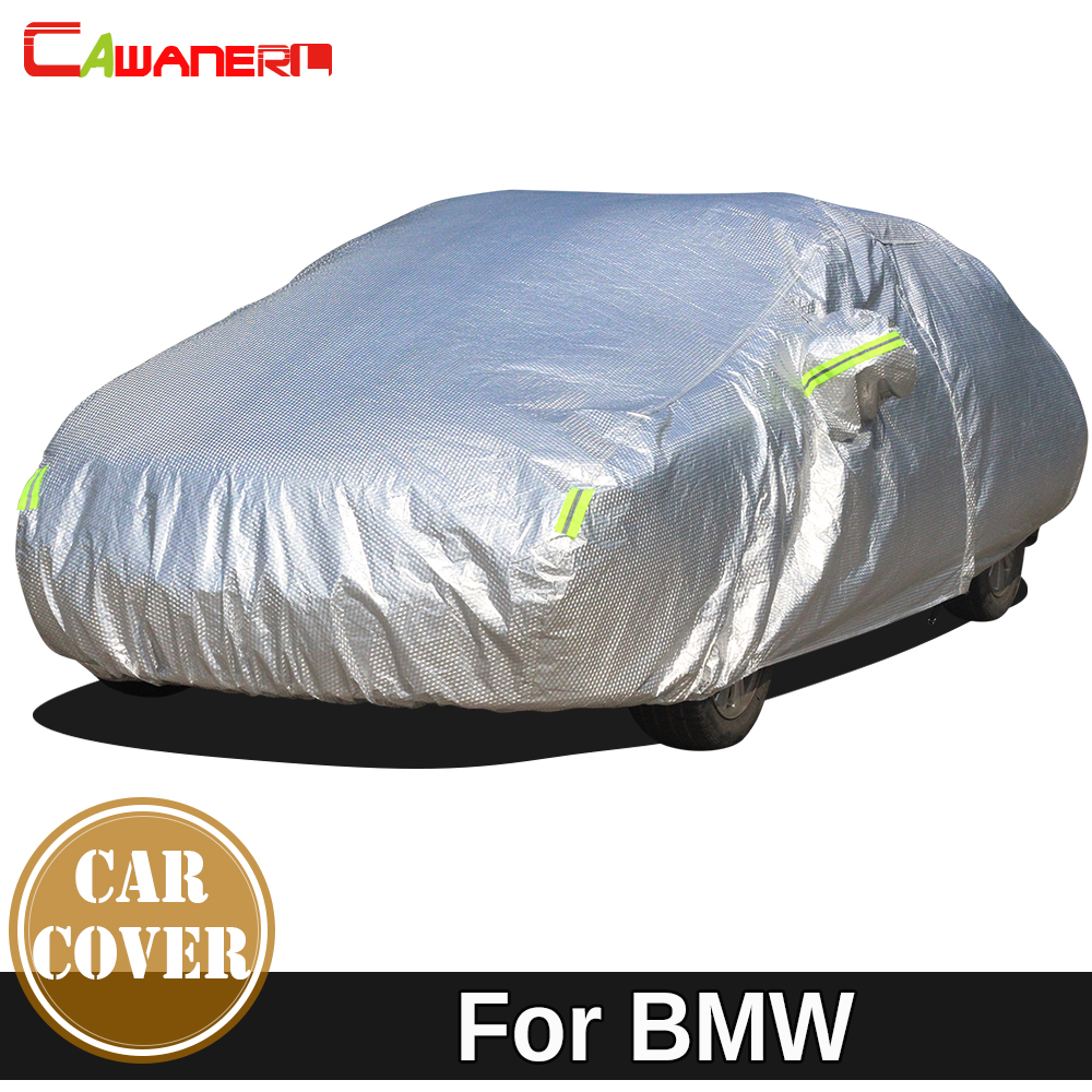 Cawanerl Thicken Car Cover Waterproof Anti-UV Sun Snow Rain Hail Protection Cotton Cover For BMW M5 E28 E34 E39 E60 E61 F10 F90 buildreamen2 waterproof car cover sunshade sedan hatchback anti uv sun rain snow hail protective thicken cotton car covers