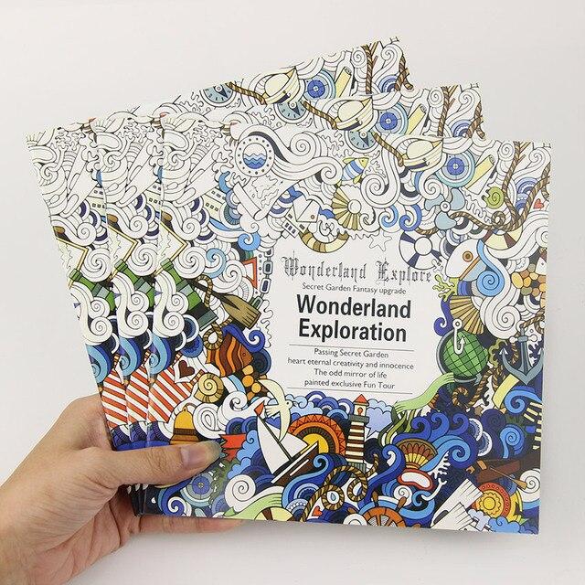 24 Новый Чудес Разведки Цветок Черный и Белый DIY Раскраска Живопись Граффити Книга Снять Стресс Книги по Искусству