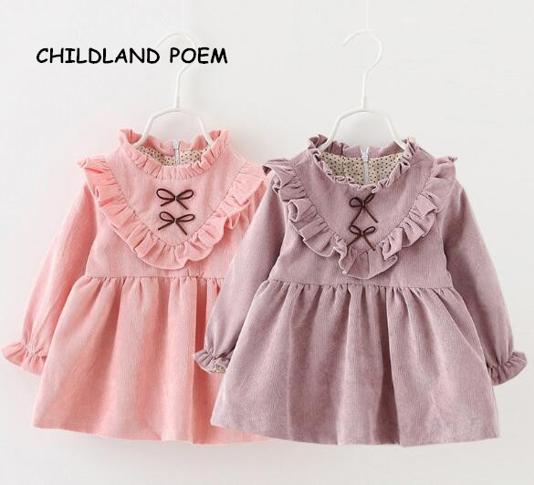a13162f210b8 2017 spring winter baby girls dress cotton princess newborn baby ...