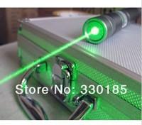 AAA high powered Military green laser pointers 200000m 532nm flashlight lazer light burning match burn cigarettes+5 caps+glasses