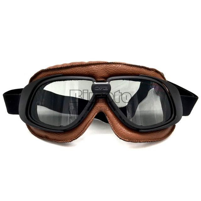 placeholder Óculos de proteção do capacete Com Lente de Fumo Motocicleta  Óculos de Proteção Piloto Do Vintage 11281ebab8