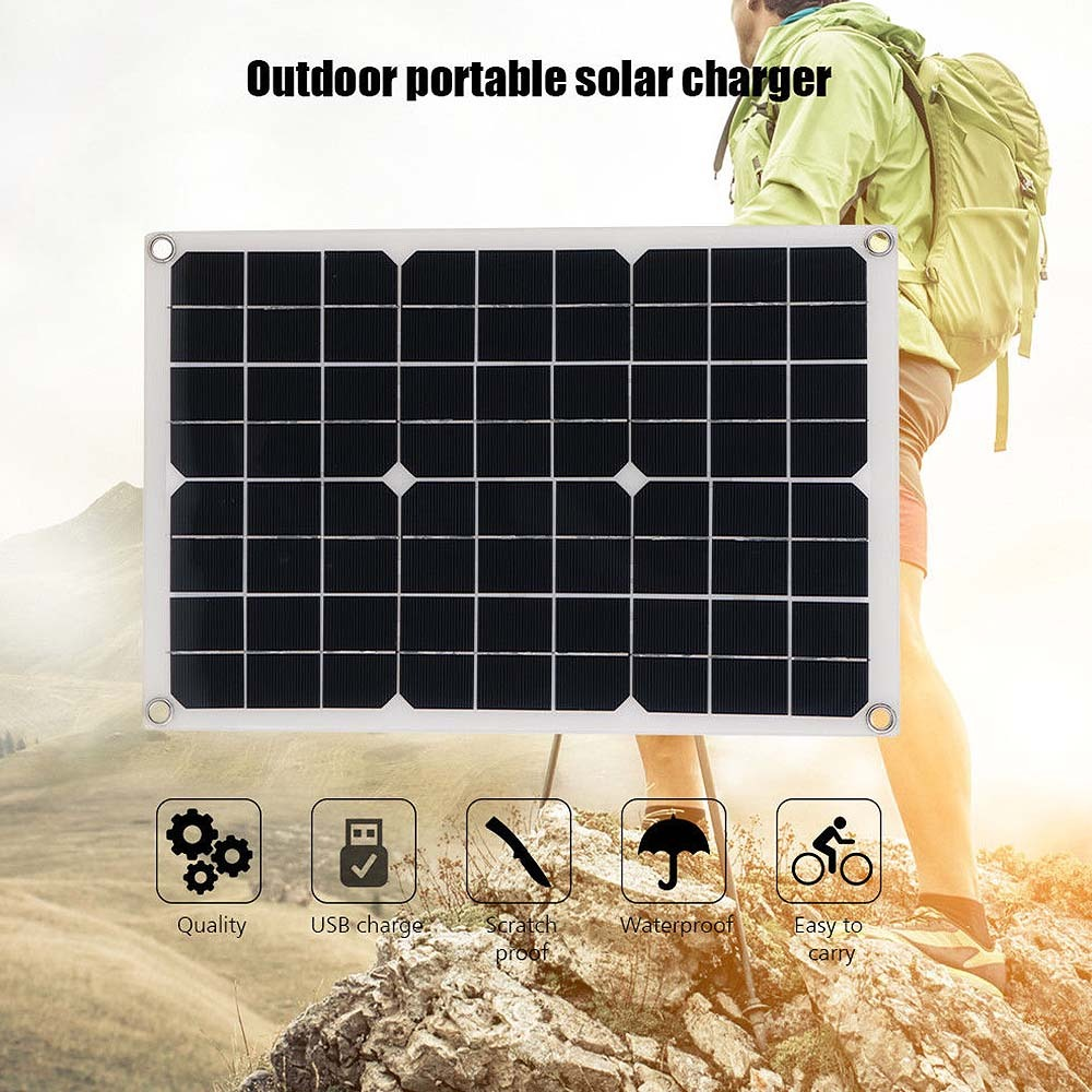 20w 18v Multi Purpose Solar Power Board Car Boat Yacht Solar Panel Battery Charger Power Supply Outdoor Emergency Charging Board