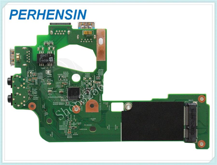 Genuine FOR DELL FOR Inspiron N5110 Audio Lan Usb IO Wlan board DQ15 48.4IE15.031 genuine for dell opt 790 990 usb board audio board g3xvd cn 0g3xvd