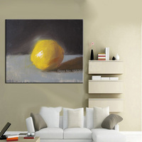 Skills Artist Hand painted High Quality Modern Lemon Oil Painting On Canvas Still Life Fruit Oil Painting For Kitchen Decorative