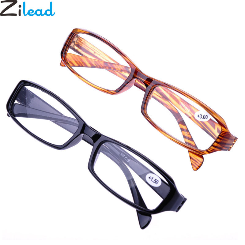 Energetic Zilead New Soft Tr90 Reading Glasses Ultralight Resin Hd Presbyopia Glasses For Male Female Unisex +1.0+1.5+2.0+2.5+3.0+3.5+4.0 Warm And Windproof