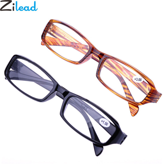 Zilead New Soft TR90 Reading Glasses Ultralight Resin HD Presbyopia Glasses for Male Female Unisex +1.0+1.5+2.0+2.5+3.0+3.5+4.0
