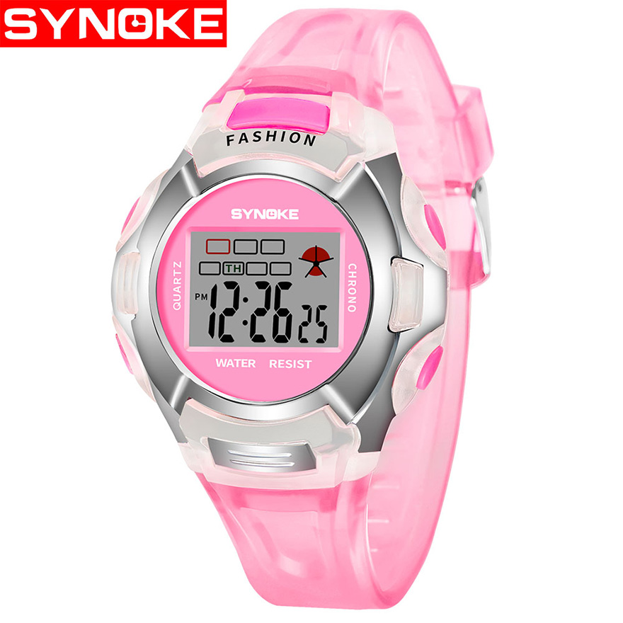 New Fashion Waterproof Children Watches Kids Boys Grils Students Sports LED Digital Watch Date Alarm Wristwatch For Children Kid